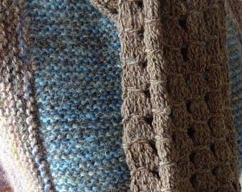 Hand spun, hand knit Shetland wool scarf