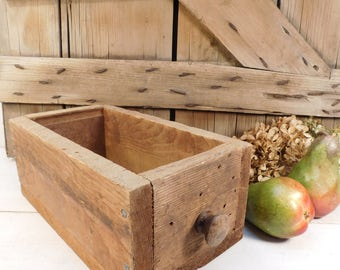 Vintage Wood Drawer, Wood Box, Primitive, Rustic Charm, Farmhouse Chic, Wood Storage