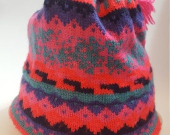 Vintage Wool Ski Hat  Murray Merkley