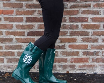 Aqua Green Rainboot Sorority Bridesmaid Graduation Gifts