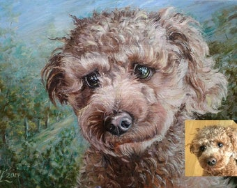 Custom pet portrait custom portrait painting Commission dog portrait from photo Original oil painting impressionist Art commission painting