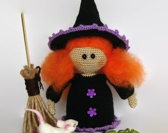 halloween witch party halloween gift for her witch gift halloween cute witch black witch doll good witch halloween decor home halloween toy