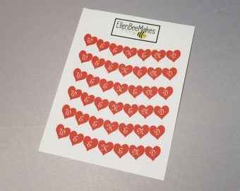 Heart Weekend Banners Stickers