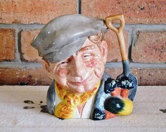 Royal Doulton rare large porcelain Toby character figural jug 6630 'The Gardener' issued 1972