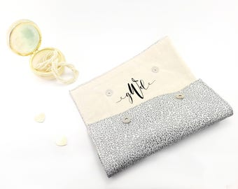 Monogram gift bag Personalized gift for bridesmaid Monogram purse Personalized bridesmaid gift Personalized purse Monogram bridesmaid clutch