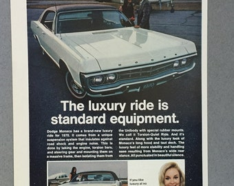 1970 Chrysler Dodge Monaco Print Ad