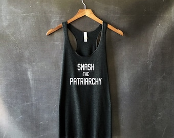 Smash the Patriarchy Tank Top for Woman - Feminist Shirts - On Wednesdays We Smash the Patriarchy - Feminist Tees - Feminism Riot Grrrl