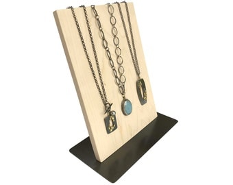 Necklace Display - Metal and Wood Jewelry Display for Craft Show Display or Retail Display