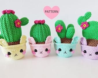 Amigurumi Cactus And Flower Crochet Pattern : Crochet cactus Etsy