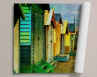Beach shed - canvas canvas - fine art print - photo printing - rolled
