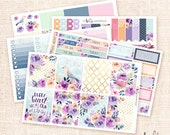Melody -  Planner sticker kit / 5 sheets, matte or glossy for Erin Condren, Happy Planner -  Fall Floral
