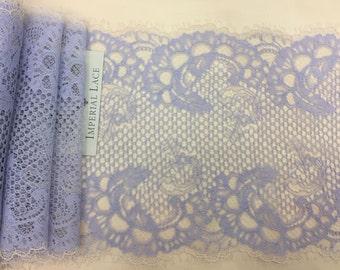 light Blue lingerie lace trim, Chantilly Lace Trim, Old blue  Lace Trimming  bras panties trim,  MK00216