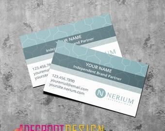 "DIGITAL DOWNLOAD: Nerium International Single-Sided Custom 3.5"" x 2"" Business Cards"