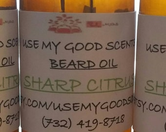 Sharp Citrus  Beard Oil -All Natural