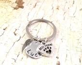 Pet Memorial Keychain, Dog memorial,  Pet Sympathy keyring, dog keychain, loss of pet keychain, loss of fur baby, loss of dog, best friend