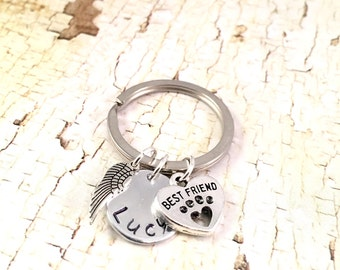 Pet Memorial Keychain, Dog memorial,  Pet Sympathy keyring, dog keychain, loss of pet keychain, loss of fur baby, loss of dog, best friend