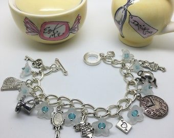 Down the Rabbit Hole ~ Charm bracelet inspired by Alice in Wonderland