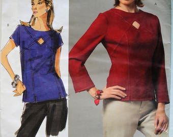 Women's Princess Seam Top, Vogue V2967, Today's Fit, Sandra Betzina, Size Bust 32 to 55, Sewing Pattern, Uncut, Long Sleeve, Short Sleeve