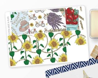 Planner Stickers She's a Wildflower Washi for Erin Condren, Happy Planner, Filofax, Scrapbooking