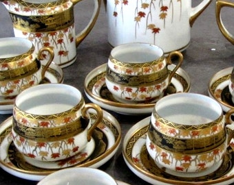 Coffee prices falling 160 euros instead of 250 porcelain China gilding - 20701