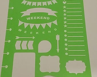 Banner stencil for the Classic Happy Planner