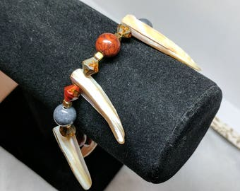 Red Fire Tooth Bracelet