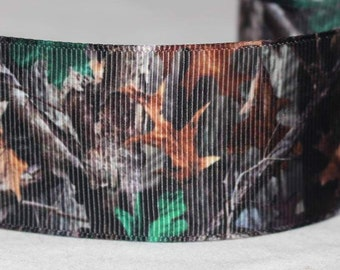"""Camo Leaf Print  1.5"""" Collar with Side Release Buckle (Martingale Option Available)"""