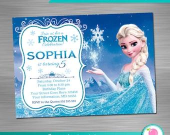 FROZEN INVITATION, Frozen Birthday Invitation, Frozen Party Invitation, Frozen Printable Invitation, Frozen DIY Invitation
