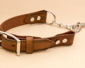 The Chainy leather dog collar
