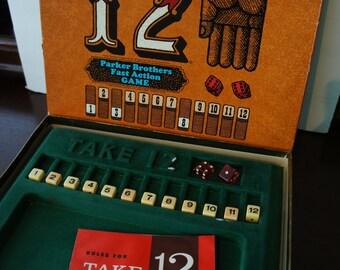 1950's Take 12 Board Game