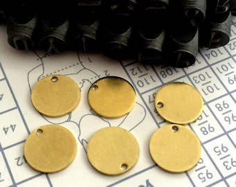 10 mm 20 Gauge (0.80 mm) thickness 30 pcs stamping Round blank,tag,disc,findigs,sealing,pressing Raw Brass
