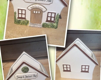 Ceramic Hand Painted Personalized Mail Holder