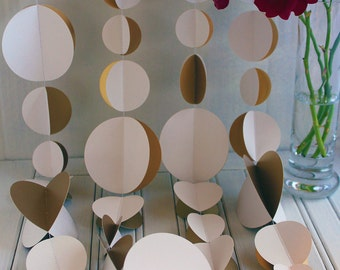 Gold & White Double Garland 3m or 6m