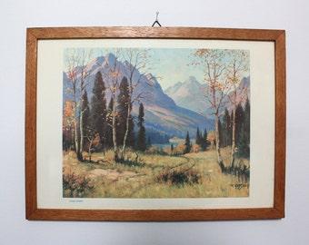 "Roland Gissing ""Autumn Grandeur"" Original 1940's Print"