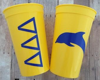 Tri Delta Sorority Cup;  Delta Delta Delta Cup; Tri Delt Cup; Tri Delta Stadium Cup; Tri Delta Tumbler; Tri Delt Gift; Tri Delt Accessories