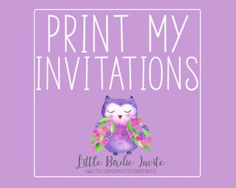 Printed Invitations | Print My Invitation | Printing Service | Printed Invitations with Envelopes | Printed Invites | Printed 5x7 Invitation