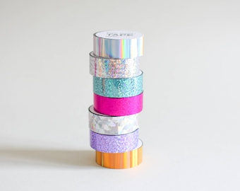 Holo tape, tape, holographic tape, Paper Poetry iridescent tape, silver holo tape