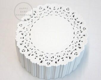4 Inch Doilies, Normandy Lace, 25 or 50, Lace Doilies, Paper Doilies, White Doilies, Wedding Decor, Vintage Wedding, Bridal Shower Decor