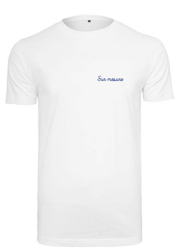 T-shirt man white with custom embroidery / / hand embroidery / / EVG / / Valentine's day / / unique and original gift idea / / Mr