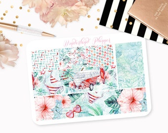 Vintage Summer - Beach Themed Planner Stickers // Washi Strips // Perfect for Erin Condren Vertical Life Planner