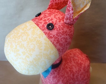 Stuffed Donkey in Red & Yellow