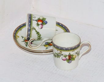 Bisto England Rare Coffee Cup and Saucer Set Bishop & Stonier Wand Stamp - 983