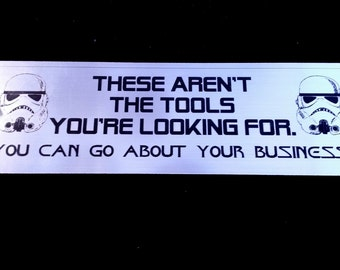 Toolbox Emblem - Not The Tools You're Looking For! Go About Your Business.