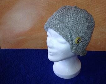 Elegant women's hat in grey for the spring