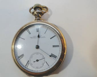 1892 American Waltham Pocket Watch 7 Jewel 18 Size 52mm Running