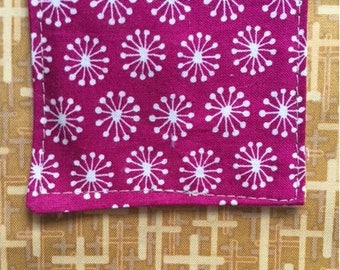 The Pocket Cross: Dandelions Over Yellow Cross Fabric