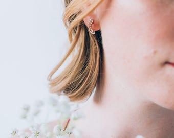 Acanth tiny earrings - Sterling silver earrings