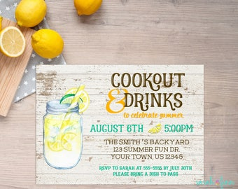 Cookout invitation | Etsy