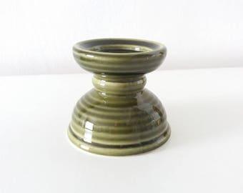 Koninklijke Goedewaagen pedestal candle holder, Holland | Mid Century pottery