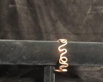 Copper Twisted Wire Bracelet